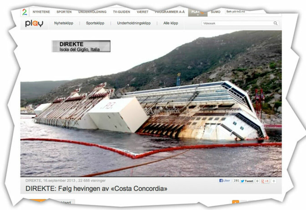 «Costa Concordia»-hevingen i gang