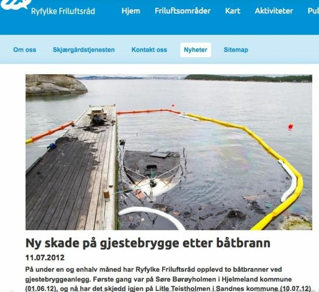 Faksimile fra Ryfylke friluftsråds hjemmesider.