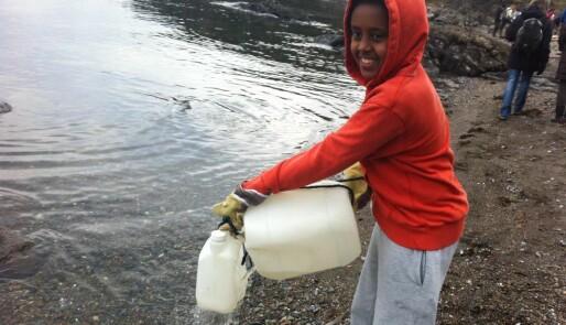 Engasjerte elever tok marin forsøpling i skole