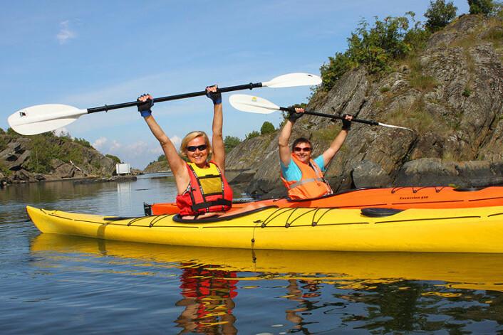 FLÅTEN: Kajakker utgjør en større del av fritidsbåtflåten.