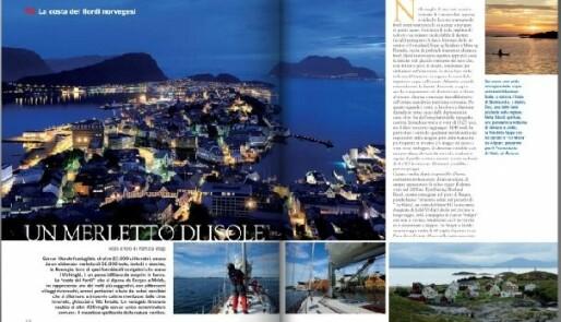 Storslått norgesreklame i italiensk båtmagasin