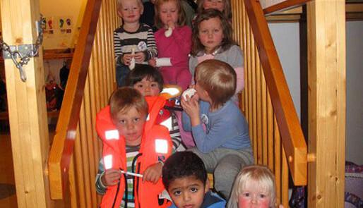 Alle i barnehagen bruker vest