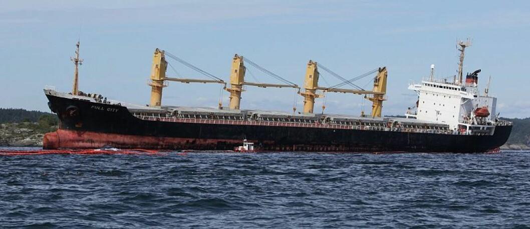 Oljesølet: Havaristen oppretter skadekontakt
