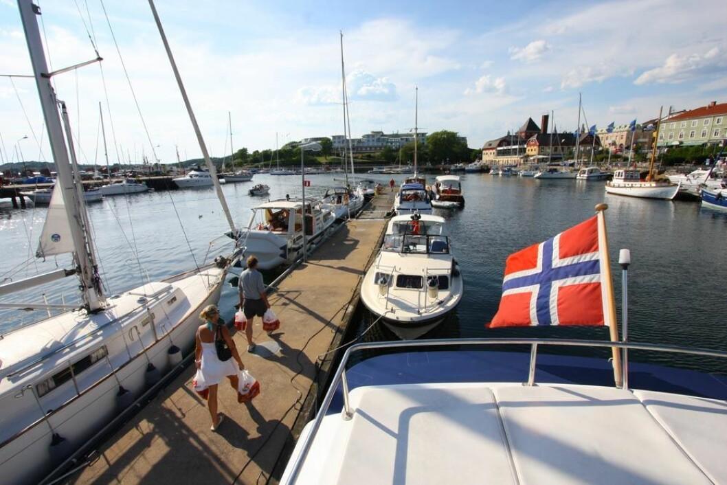 Strømstad 29. juni. En drømmekveld uten for mye båter.
