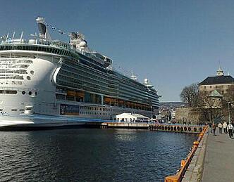 Verdens største cruiseskip i Oslo