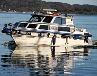 Taxibåten regnes som nyttetrafikk