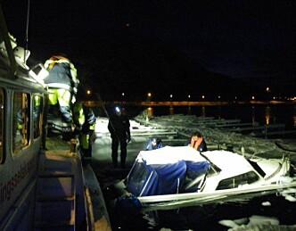 Hevet båt i Alta
