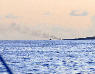 Lystbåt i brann ved Fuglehuk