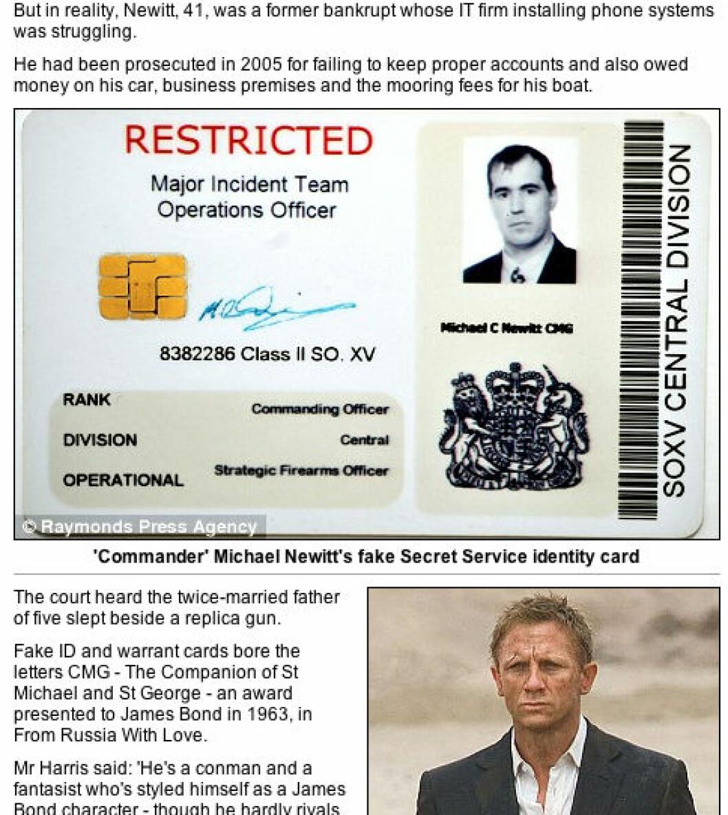 Falsk James Bond avslørt
