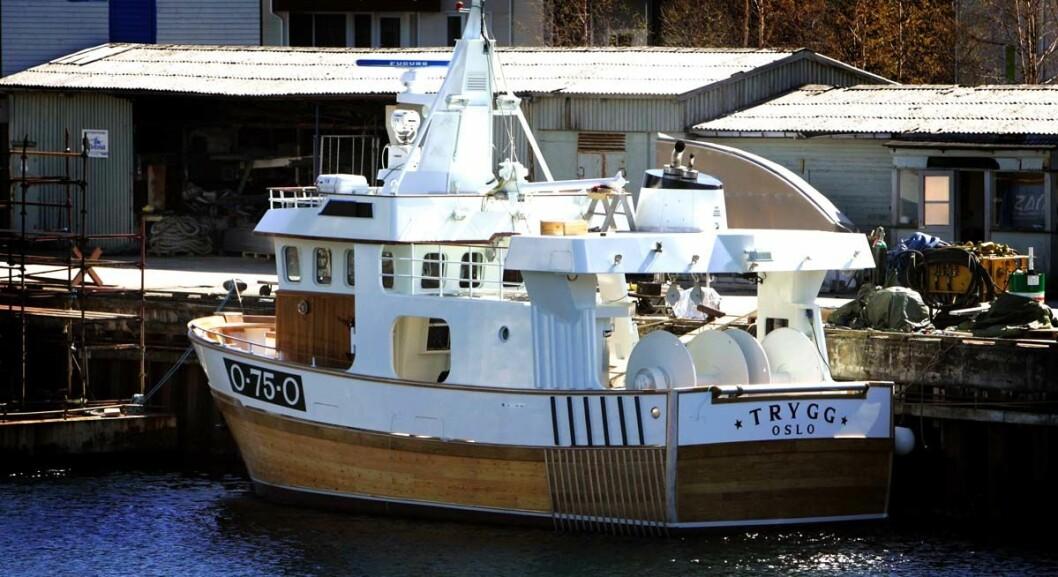 Mandal 20070420.Den nye fiskebåten til Kjell Inge Røkke sjøsatt på Båtservice Mandal AS.  Båten heter