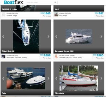 SKANDINAVIA: Boatflex er en dansk tjeneste med en del båter i Danmark og Norge.