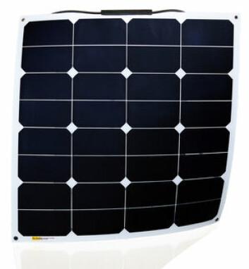 KOMPAKT: 50W Panelet fra Sunbeam systems dekker et mindre areal.