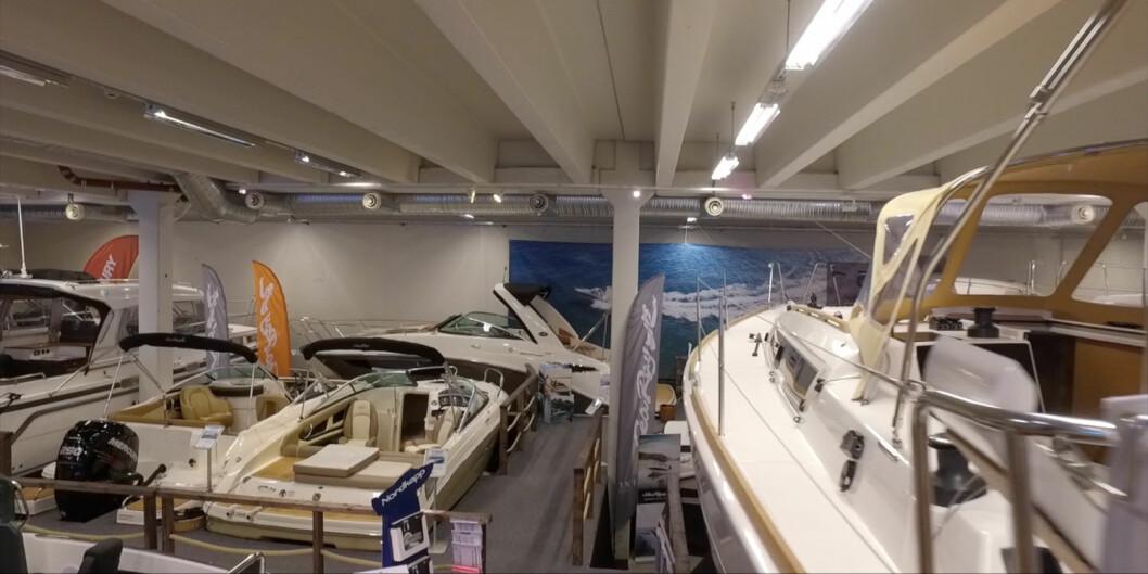 STORBÅTMESSE: På 7500 kvadratmeter stilles det ut båter fra 25 til 46 fot.