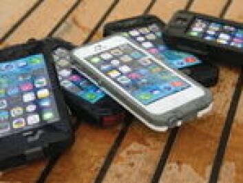 SJØKLAR: Deksler beskytter mobiletelefonen uten at funksjonene blir vesentlig redusert.