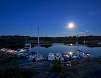 Populær naturhavn på Hvaler