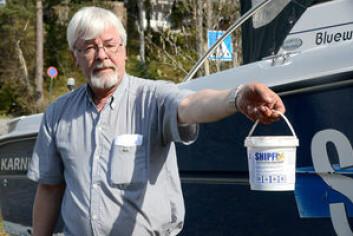 SHIPFIX: Jan Helgesen står bak tilsetningstoffet som han hevder skal gi bedre beskyttelse mot groe.