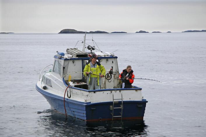 HUWA 26: Båten som ofte brukes av Haugesund Havfiskeklubb er av god gammel årgang.