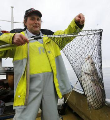 FØRSTE FISK: En lange!