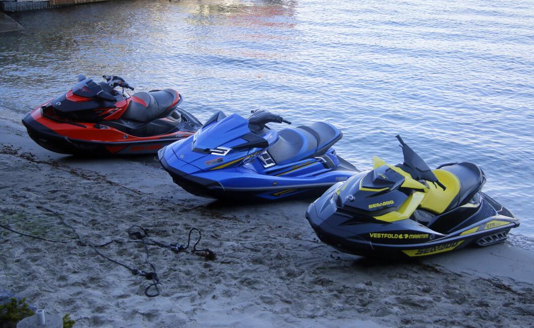TESTET I BÅTLIV: Yamaha og Sea Doo vannscootere.