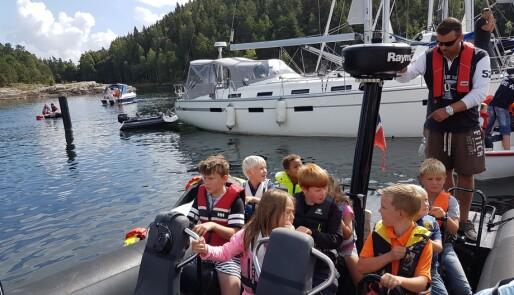 Barnas dag på sjøen