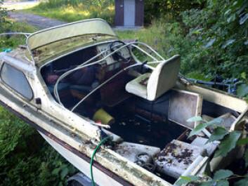MILJØ: Utrangerte båter er foreløping mest et lokalt problem. Volumet er mindre båter som denne.