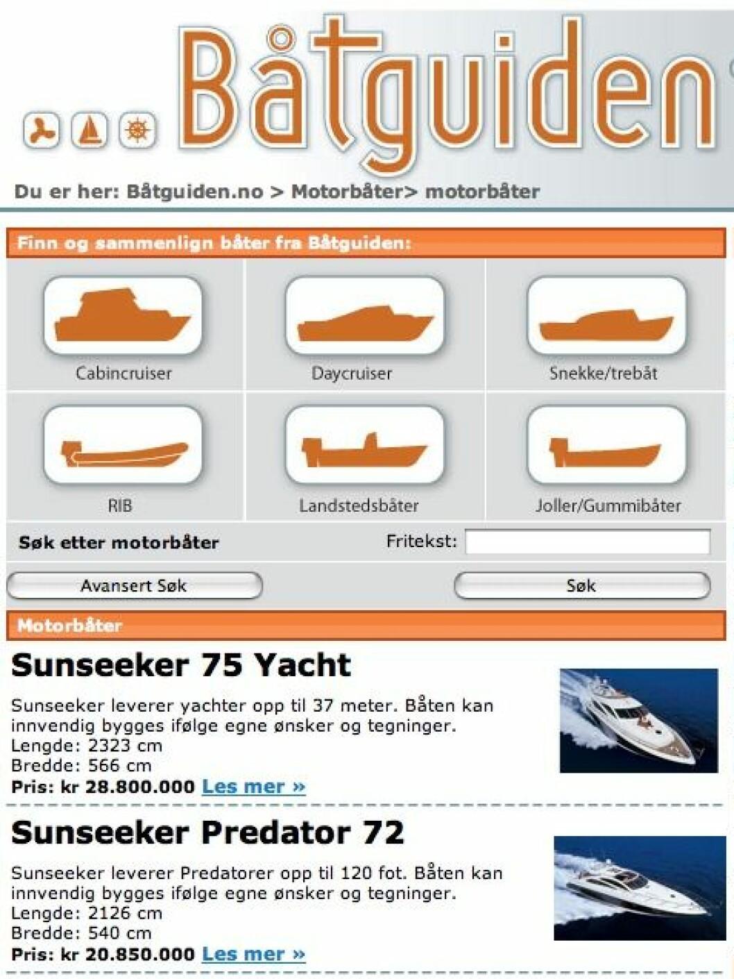 Båtutstilling på nett