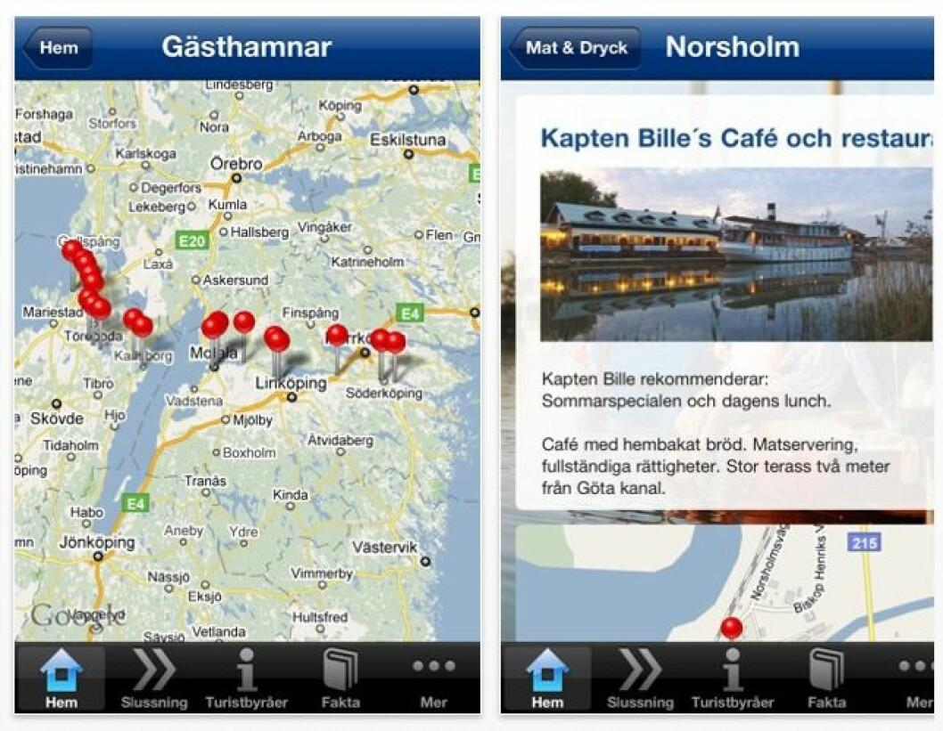 Göta kanal med app