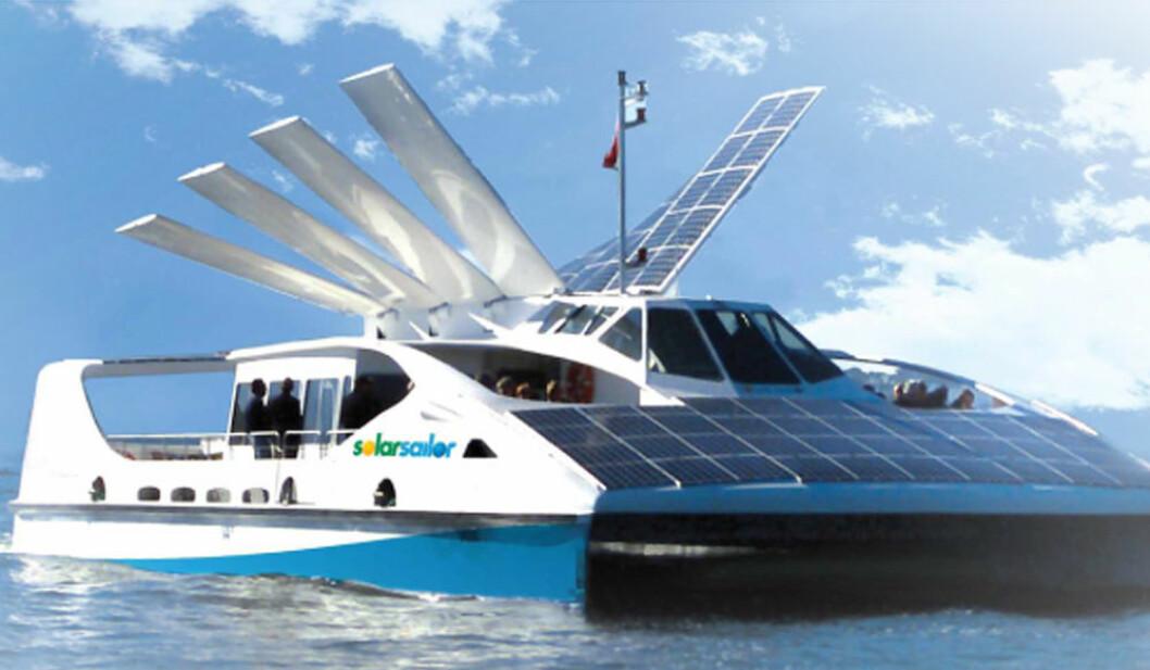 Propell til hybriddrevne båter