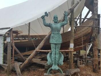 KLÅSTADSKIPET: Rekonstruksjonen av Norges fjerde best bevarte vikingskip kan sees i Tønsberg i disse dager.