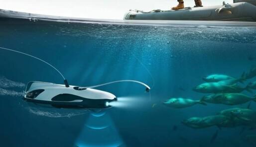 Drone for bruk under vann