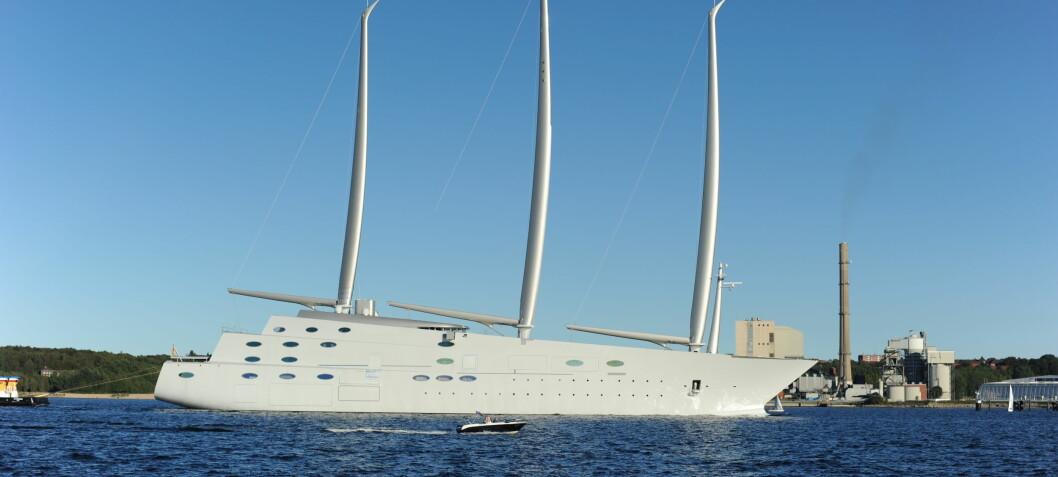 Verdens største seilskip i Norge