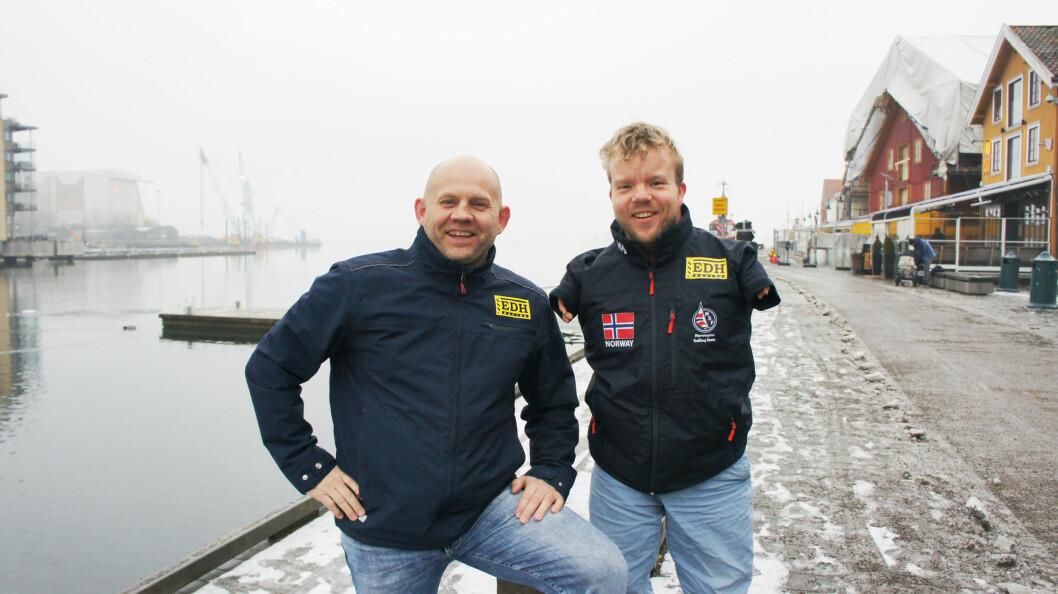 TEAM: Frode Sundsdal (t.v.) og Bjørnar Eriksen skal lære av hverandre.