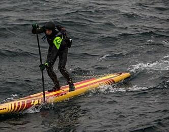 Forsøkte å padle over Skagerrak