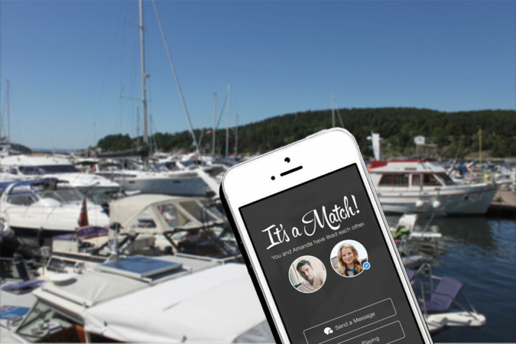 TINDER OG AIS FOR DATING: Du kan nå se hva slags båt og hvor båten ligger til den du ønsker å sjekke opp.