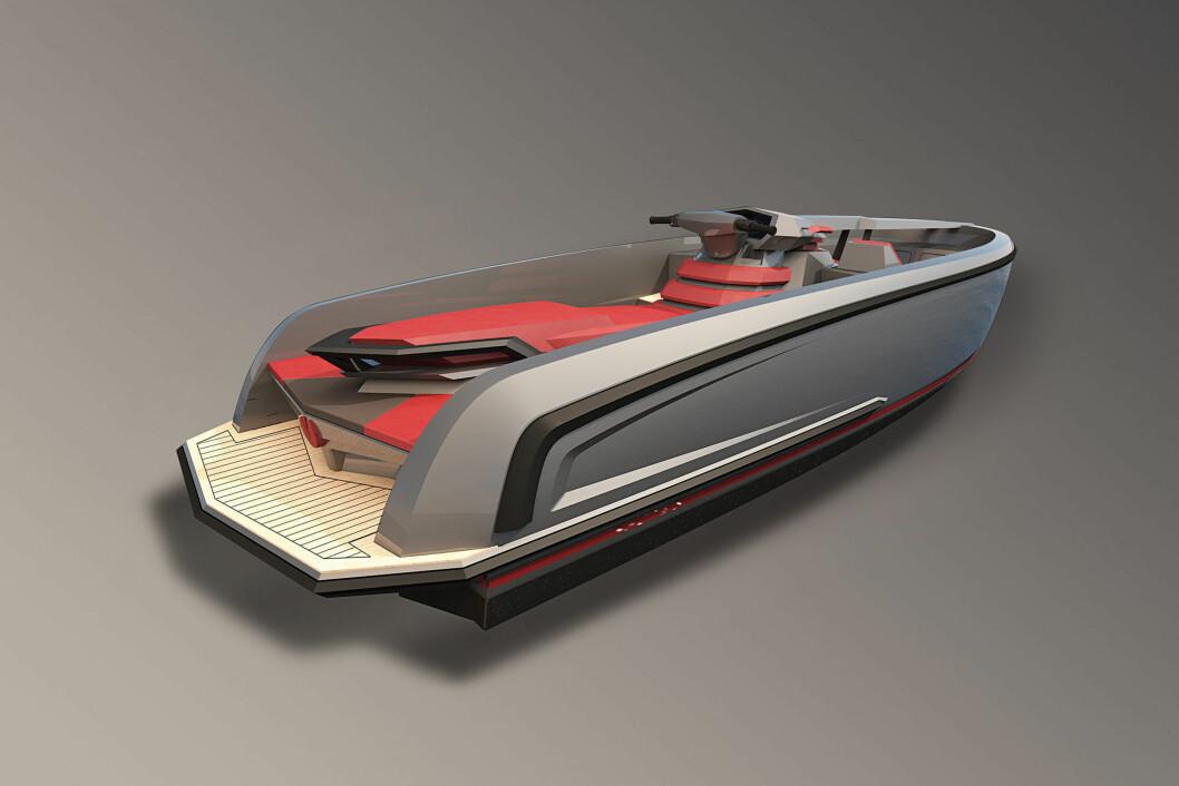 LITT VANNSCOOTER OG LITT TENDER: Vanquish Yachts har designet Vanqraft 16.