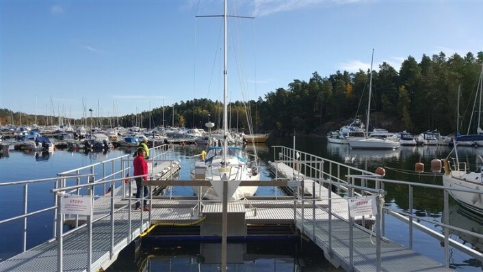 VASK: I Vollen kommer norges første anlegg for å vaske båten under vannlinjen.