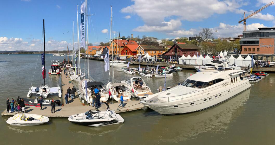TØNSBERG BOATSHOW: Det ble tre dager med sol og mange besøkende.