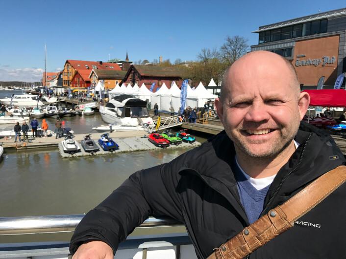 FRODE SUNDSDAL: Storfornøyd med Tønsberg Boatshow 2017.