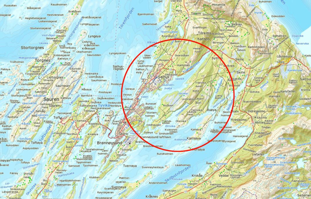 INNESTENGT: Spekkoggerne kom seg ikke ut av Trævikosen i Brønnøysund.