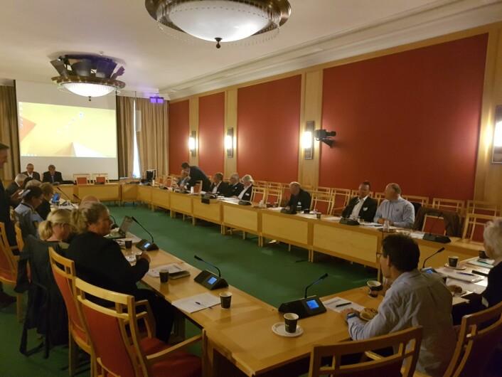 STOR REPRESENTASJON: 30 representanter utenfra Stortinget, fra bransjen og organisasjonene og det offentlige. Men flere viktige uteble.