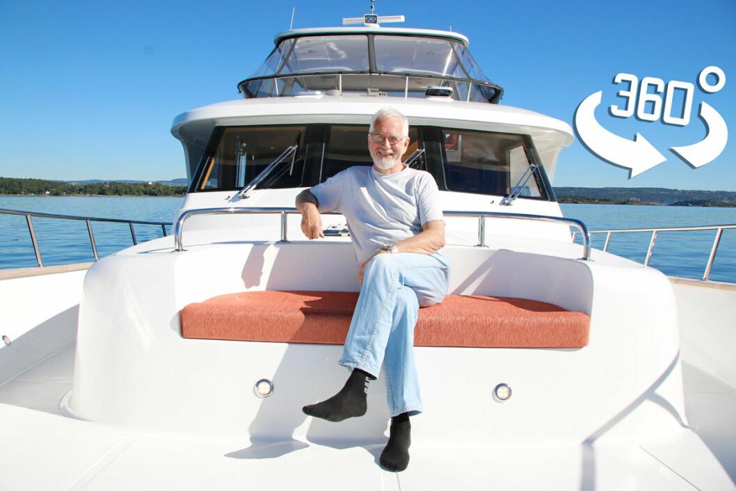 EXPLORER 58 PILOTHOUSE: Leif Hvidsten er lykkelig eier av den nye båten.