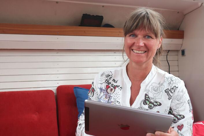 GRÛNDER: Kristin Omholt-Jensen står bak appen Embark, en navigasjonsapp med sosiale muligheter.