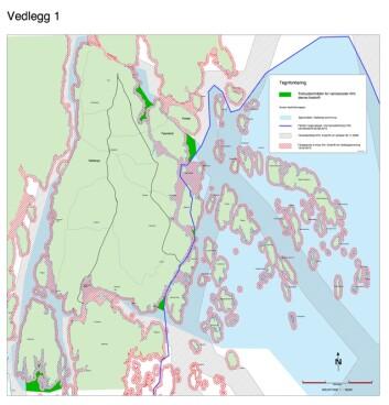 UØNSKET; Forbudskart for Nøtterøy.