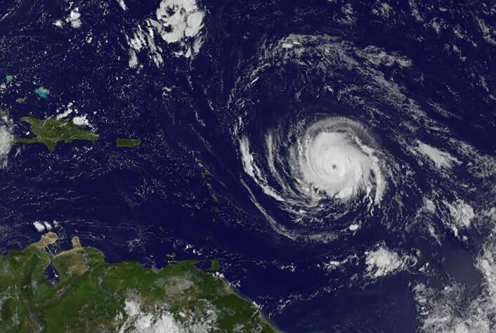 ORKAN: Irma bringer den kraftigste vinden målt i Atlanterhavet.