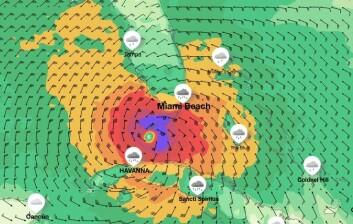 ORKAN: Uværet ankommer Key West i natt
