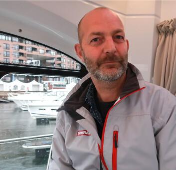 NYHETER: Rolf A. Fossumstuen avslørte nyhetene til Navico for pressen etter Båter i Sjøen.