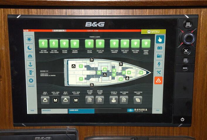 CANBUS: Naviop gjør det mulig å styre alt det elektriske om bord fra en skjerm. Systemet er på vei til de største modellene fra Bavaria.