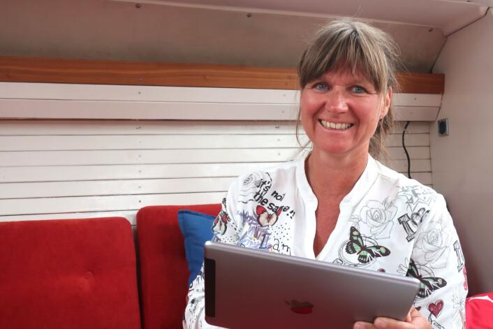 FORNØYD: Kristin Omholt-Jensen får med C-Map på å utvikle Embark videre.