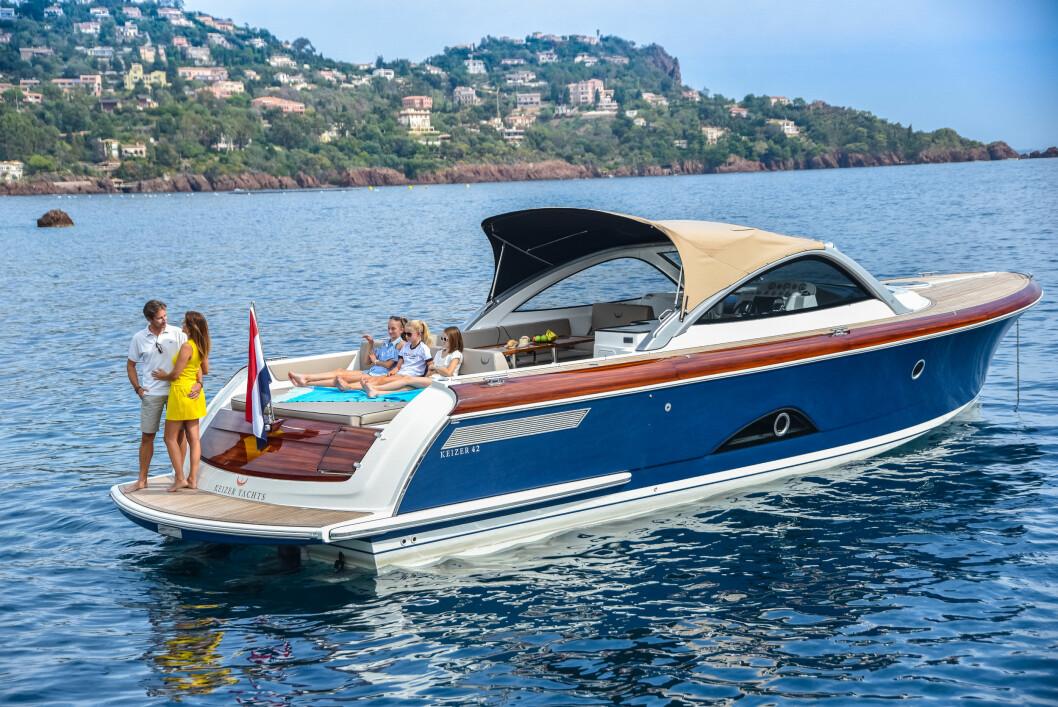SKINNENDE REN: Keizer Yacht går nye veier for å fange kunders oppmerksomhet.