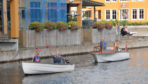 Båtfest med klassiske skjønnheter